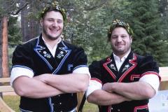 Die Zürcher Kranzgewinner: Samir Leuppi und Marco Nägeli