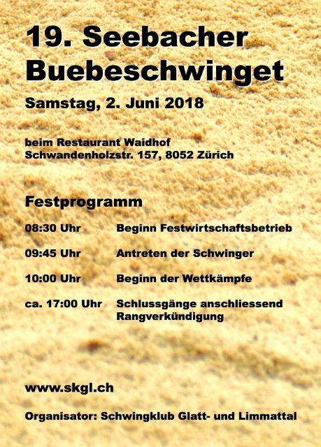 Seebacher Buebeschwinget Programm